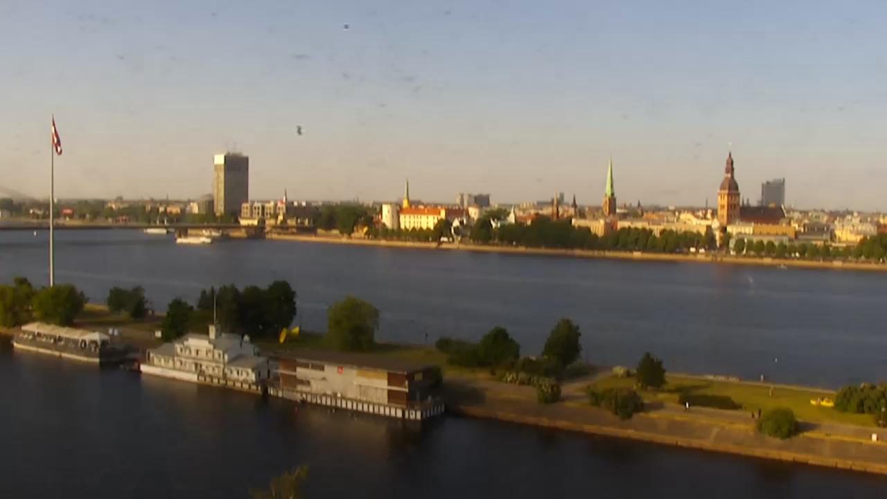 Панорама Риги. Вид из Radisson Blu Daugava