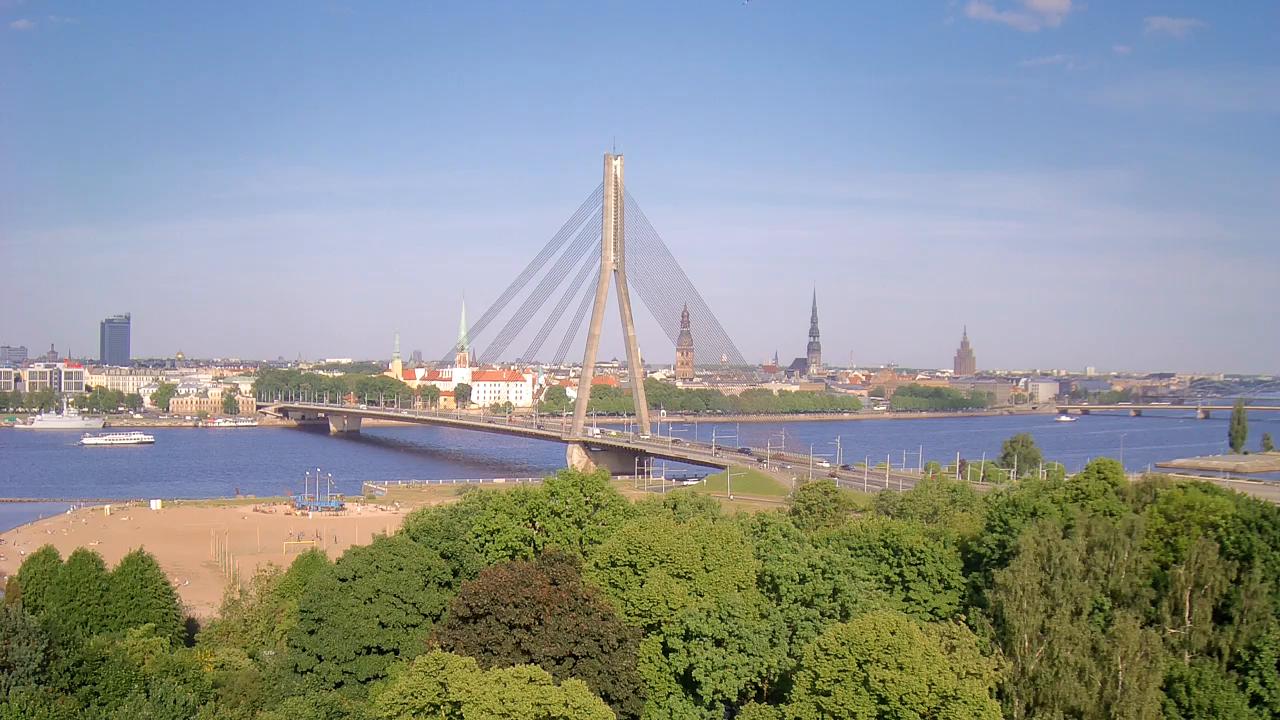 Вид из Islande Hotel Riga